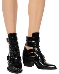 Chloé 'rylee' Heeled Ankle Boots Multicolour - Black