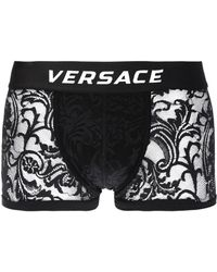 417e642bfc56 Versace Lace Boxers in Black for Men - Lyst