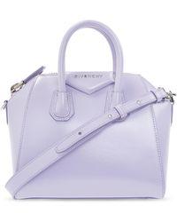 Givenchy 'antigona Medium' Shoulder Bag - Purple