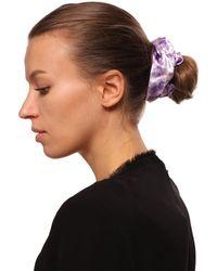Ganni Patterned Hair Tie - Purple