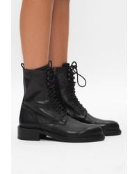 Ann Demeulemeester Lace-up Ankle Boots Black