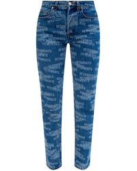 Vetements Jeans With Logo - Blue