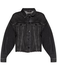 AllSaints 'piper' Stonewashed Denim Shirt - Grey
