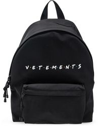 Vetements Branded Backpack - Black