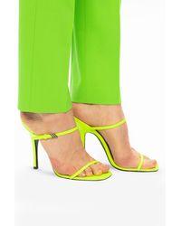 The Attico Stiletto Mules Neon - Yellow