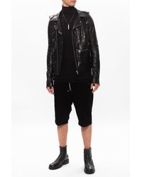 Rick Owens Leather Jacket - Black