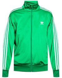 adidas Originals Track Jacket With Logo Green