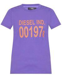 DIESEL Printed T-shirt Purple