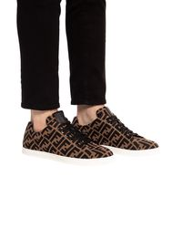 Fendi Knit Sneaker - Brown
