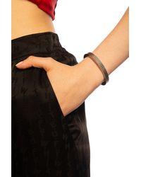 Balenciaga Bracelet With Logo - Metallic