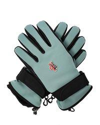 3 MONCLER GRENOBLE Gloves With Logo Light Blue