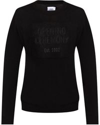 Opening Ceremony Sweater With Logo - Black