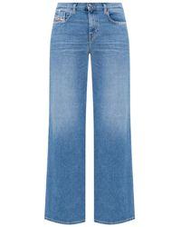 DIESEL 'd-akemi' Raw Edge Jeans Blue
