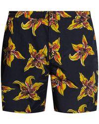 AllSaints 'hibiscus' Swim Shorts - Black