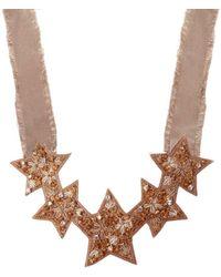 RED Valentino Embellished Necklace Beige - Natural