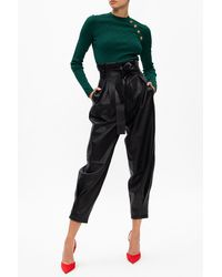 RED Valentino Leather Trousers - Black