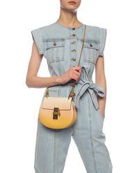 Chloé 'drew' Leather Shoulder Bag - Natural