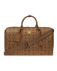 MCM Holdall With Logo - Brown