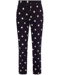 N°21 Patterned Creased Pants - Black