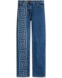 Versace - Jeans With Logo - Lyst