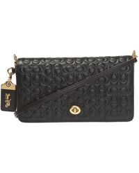 efd87c81 COACH Dinky 19 Crossbody Bag With Charms And Leather Strap in Black ...
