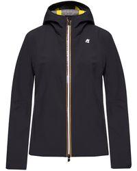 K-Way 'lil Bonded Jersey' Jacket - Black