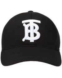 Burberry Monogram Cotton Baseball Cap - Black