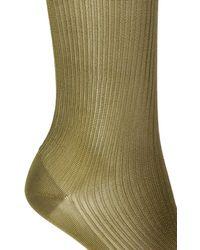 Fendi Silk Knee Socks Green