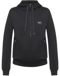 Dolce & Gabbana Jersey Zip-up Hoodie - Black