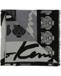 KENZO - Patterned Scarf - Lyst