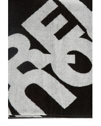 DSquared² Logo Towel Unisex Black