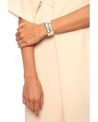 Balenciaga Logo Bracelet White