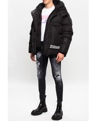 DSquared2 Quilted Down Jacket - Black