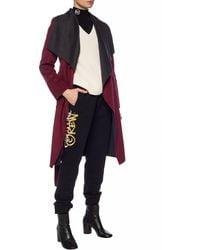 Michael Kors Coat With Belt Burgundy - Red