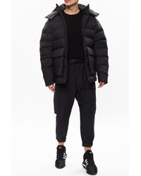 Y-3 Quilted Jacket With Hood Black