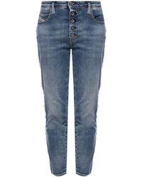DIESEL 'babhila' Distressed Jeans Navy Blue