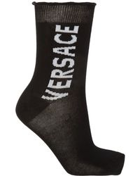 Versace Medusa Motif Socks - Black