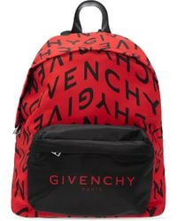 Givenchy 'urban' Backpack With Logo Red