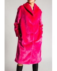 Moschino Coat With Logo - Pink
