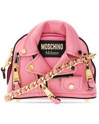 Moschino 'biker' Shoulder Bag Pink