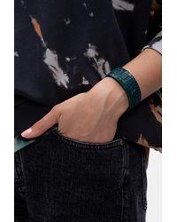 DIESEL Logo Bracelet - Blue