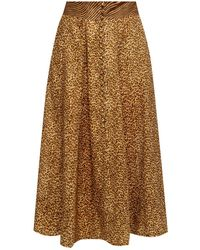 Zimmermann Animal Motif Skirt - Brown