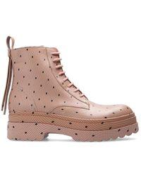 RED Valentino Valentino Garavani Leather Ankle Boots - Pink