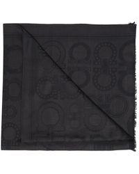 Ferragamo Wool Scarf - Grey