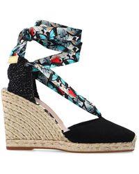 Sophia Webster 'valentina' Wedge Sandals - Black