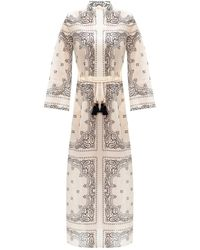 Tory Burch Print Cover-up Caftan - White