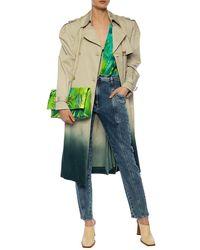 Versace Tie-dye Coat - Natural