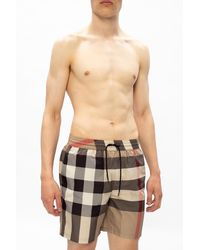 Burberry Swim Shorts With Logo Multicolour