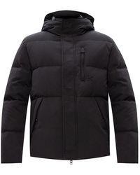 KENZO Down Jacket With Logo - Black