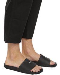 Rick Owens DRKSHDW Black Rubber Slide Sandals